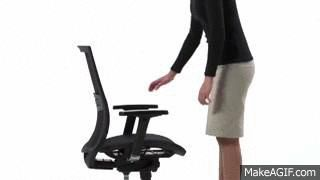 Adjustable sit depth helps to add more comfort to lower back.