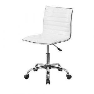 FlashFurniture Armless White Chair